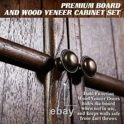 Barrington Webster Collection Vendu Wood Dartboard Armoire Set, Steel Tip Darts