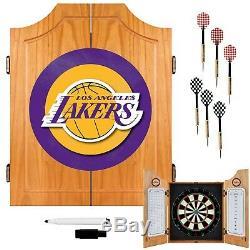 Brand New Nba Los Angeles Lakers En Bois Dart Set Cabinet