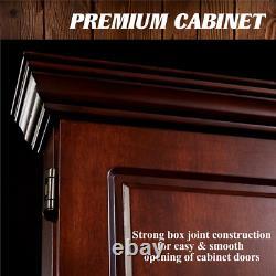 Bristle Dart Board And Wood Cabinet Set Tableau De Bord Et Accessoires