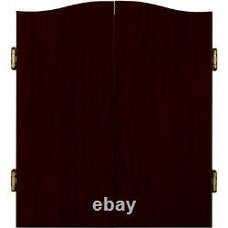 Bristle Dartboard Auto-guérison Sisal Board Cabinet Set 6 Steel Tip Darts 18 Nouveau