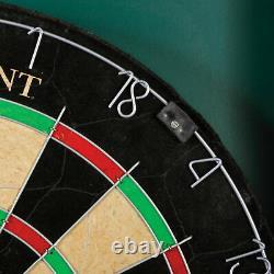 Bristole Dartboard Self-healing Sisal Board Set D'armoire 6 Astuce En Acier Darts 18 Nouveau
