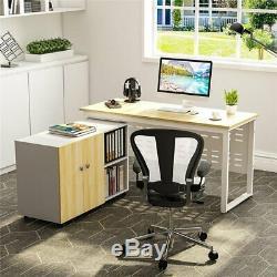 Bureau D'ordinateur Moderne Pour La Maison Ou Ensemble De Table De Travail Et De Rangement De Fichiers De 55 ''