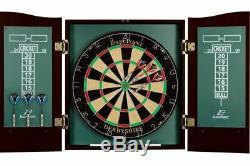 Cabinet Bristle Dartboard Set Taille Officielle Dart Board Pub Bar Salle De Jeux En Acier