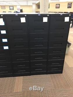 Cabinet De Catalogue De Cartes De Bibliothèque D'époque - Acier (ensemble De 2)