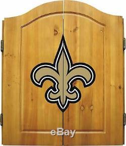 Cabinet De Fléchettes De Marchandise Impériale NFL Avec Acier, Style Saints De La Nouvelle-orléans