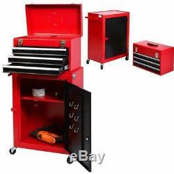 Cabinet De Rangement De Boîte En Acier De Coffre D'outil De Roulement A Placé La Maison D'outils De Garage Organisateur 2pc