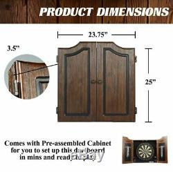 Cabinet Set Haut De Gamme Jeu De Fléchettes Fléchettes Bristle Board Game Tableau De Bord De La Chambre Steel Tip