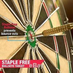 Cabinet Set Sport Jeu De Fléchettes Led Intégré 2 Cricket 6 Steel Tip Darts Fun