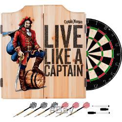 Capitaine Morgan Pirate Dart Cabinet Set Party Fun Jeu De Fléchettes Jeu Potable