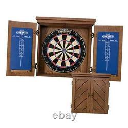 Charleston Bristle Dartboard Cabinet Set Comprend 18 Dartboard Et 6 Steel T