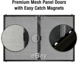 Cheminée En Verre De Porte Portes D'armoires Écran Mesh Style Magnétique Agréable Petit
