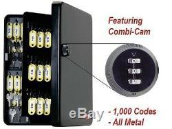 Clés De Sécurité 122 Crochets À Clés Cabinet Boîte En Acier Avec Des Étiquettes Libellé Code Lock Set Nouveau