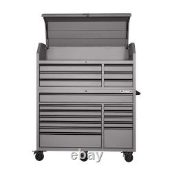 Coffre À Outils Et Armoires Heavy-duty 56 In. W 18-drawer Combination Chest And Cabinet Set, Matte Gray