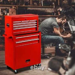 Coffre D'outil En Acier De 8 Tiroirs Et Organisateur Rouge D'ensemble D'armoire Roulante Avec Des Roues Nouvelles