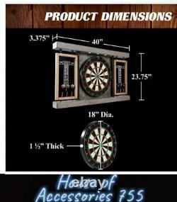 Dartboard Cabinet & Dart Set Led Lights 6 Astuces En Acier Darts Et Vols 40