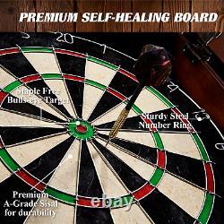 Dartboard Cabinet Set Bristole Self Healing Steel Astuce Darts Jeu Jouer À La Cible De La Salle De Jeu