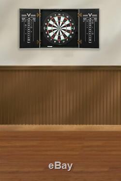 Dartboard Cabinet Set Professional Dart Board Bar Accueil Jeu Steel-tip Tableau De Bord