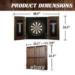 Dartboat Cabinet Set Wood Professional Home Game Steel Tip Darts Enfants Adultes