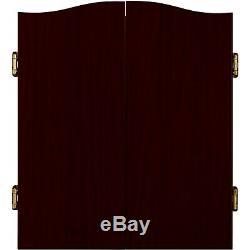 Deluxe Set Barrington Bristle Dartboard Cabinet 6 Steel Tip Dart Board Jeu Nouveau