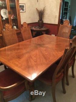 Drexel Salle À Manger Table Ensemble Chambre, 6 Chaises, Vaisselier, Serveur