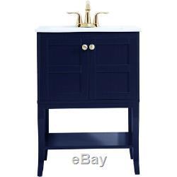 Éclairage Élégant Vf2100bl Mason Bleu Set Vanity Sink