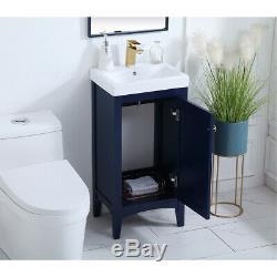 Éclairage Élégant Vf2318bl Mod Bleu Set Vanity Sink