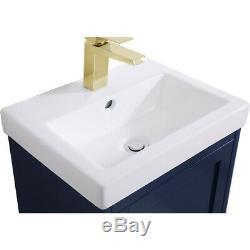 Éclairage Élégant Vf2518bl Mason Bleu Set Vanity Sink