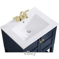 Éclairage Élégant Vf2524bl Mason Bleu Set Vanity Sink