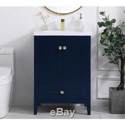 Élégant Éclairage Vf-2001bl Aqua Bleu Set Vanity Sink
