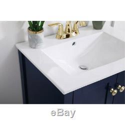 Élégant Éclairage Vf-2003bl Mod Bleu Vanity Sink Set