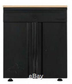 Ensemble D'armoires De Garage Husky 64 Po L X 81 Po H X 24 Po D Acier Noir (3 Pièces)