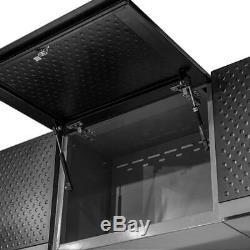 Ensemble D'armoires De Rangement Pour Garage Frontier, 72 Po X 132 Po X 18 Po Noir (8 Pièces)