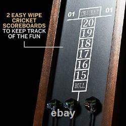 Ensemble D'armoires Thornton 40 Dartboard Avec Lumières Led, Fléchettes En Acier