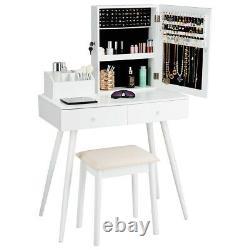 Ensemble De Table Vanity Miroir Ensemble De Table De Dressing Avecbijoux Lockable Armoire Cabinet