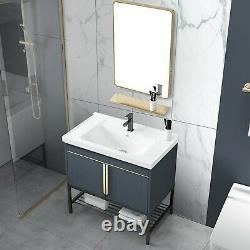 Étage Salle De Bain Vanities Set En Acier Inoxydable Salle De Bain Cabinet Combinaison