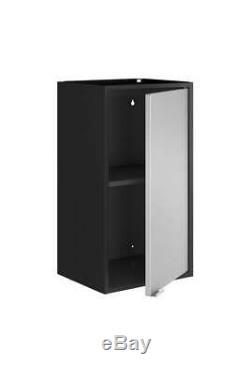 Flottant Cabinet Set Noir Et Gris Finition De 2 ID 3820320