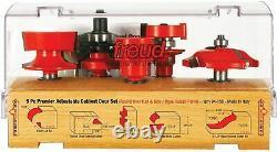 Freud 5 Piece Premier Adjustable Cabinet Bit Set (1/2 Tige) (94-150)