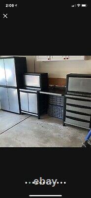 Garage Armoires Et Rangement 6pc Set Hd En Plastique Industriel Panneau En Acier Inoxydable