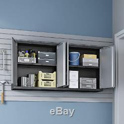Garage Flottant De La Forteresse Confortable Manhattan, Ensemble De 2 Cabinets 2-5gmc