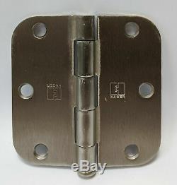 Hager Porte D'armoire Charnière Argent Durable En Acier Inoxydable 3 1/2 Po X 2 Po Ensemble De 25