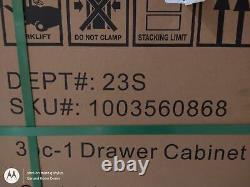 Heavy Duty Soudés En Acier 64inwx81inhx24ind Garage Ensemble Cabinet En Noir (3 Pièces)