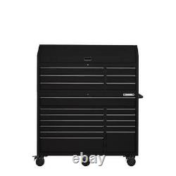 Heavy-duty 56. W 18-drawer Combination Tool Chest And Cabinet Set, Matte