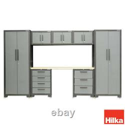 Hilka Professional 24 Gauge Steel 8 Pièces Ensemble D'armoire Modulaire