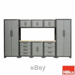 Hilka Professionnelle De Calibre 24 En Acier De 9 Morceaux Cabinet Modulaire