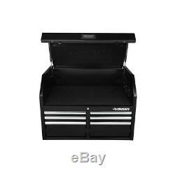 Husky 36 Po. W 12 Tiroirs, Combinaison Profonde Coffre À Outils Et Cabinet Set Dans Gloss