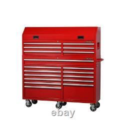Husky 61 À. 18 W-tiroir Combinaison Coffre À Outils Roulant Et Cabinet Set In Red