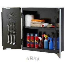 Husky 72 Po. W X 98. H X 24 In. D Acier Garage Set Cabinet En Noir (5 Pièces)