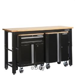 Husky Cabinet Set 3 Pièces De Verrouillage Porte Réglable Des Pieds De Stockage En Vrac Lourd