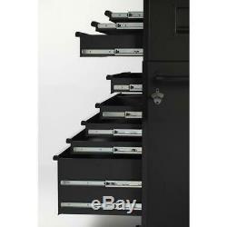 Husky Coffre À Outils Roulant Cabinet Set 15 Tiroirs 52. W Noir Mat