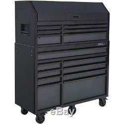 Husky Coffre À Outils Roulant Cabinet Set 52. W 15 Tiroirs Roulement À Billes Lames